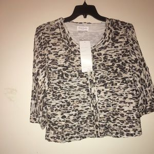 Jackets & Blazers - Brown and cream jacket